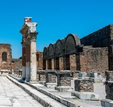 Ruins Of Pompeii Stock Images
