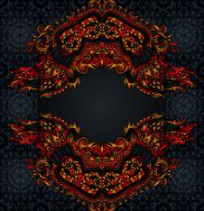 Free Ethnic  Style Background Frame Royalty Free Stock Images - 32211499