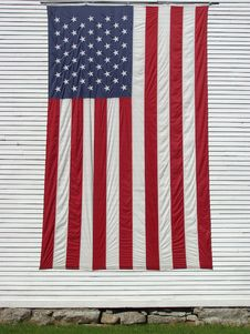 Free USa Flag On Church Stock Images - 32213124