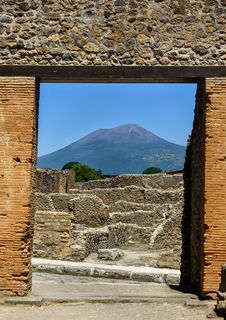 Pompeii And Mt. Vesuvious Stock Image