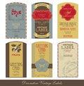 Free Vintage Label Set Royalty Free Stock Photo - 32227845