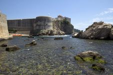 Free Croatia. Dubrovnik. Fortress By The Sea. Royalty Free Stock Photography - 32227117