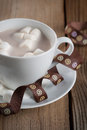 Free Cup Of Hot Chocolate With Marshmallows Stock Images - 32239344