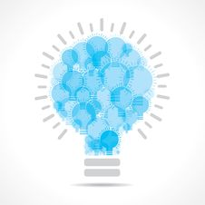Free Blue Light Bulbs Form A Big Bulb Stock Images - 32231784