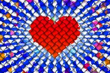 Free Heart Abstract Background Royalty Free Stock Photos - 32238678