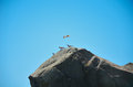 Free Seagull Soaring In The Sky Above The Rock Stock Image - 32245151