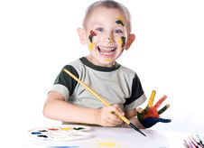 Free Boy Artist Royalty Free Stock Images - 32240009