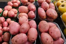 Free Potatoes At Farmers Market Stock Images - 32243734