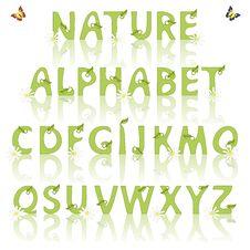 Free Nature Alphabet Stock Photography - 32244212