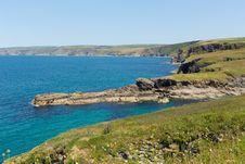Port Isaac Coast North Cornwall England Royalty Free Stock Photo