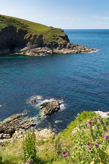 Entrance To Port Isaac Harbour North Cornwall Royalty Free Stock Images