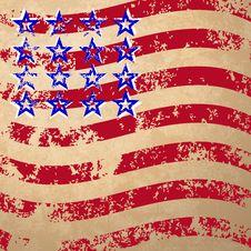Free Grunge Striped Flag Royalty Free Stock Photo - 32248715