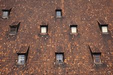 Free Windows On The Roof Of Mill In Gdansk Royalty Free Stock Photography - 32249407