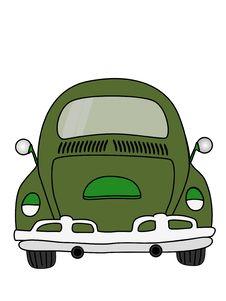 Free Green Car Cartoon Royalty Free Stock Image - 32251866