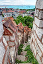 Free Stone Staircase Leading To The Top Of The Tower Of The Yedikule Royalty Free Stock Photography - 32262047