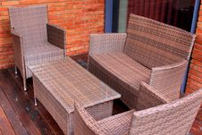 Free Rattan And Wicker Furniture Royalty Free Stock Photography - 32260847