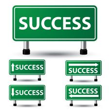 Free Success Sign Royalty Free Stock Photo - 32262435
