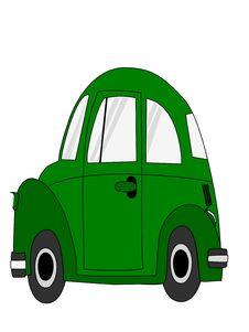 Free Green Car Cartoon Royalty Free Stock Photos - 32265558