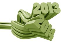 Free 2013 And 2014 3d Text Stock Photo - 32269440