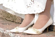 Free The Bride S Wedding Shoes Stock Photo - 32269960
