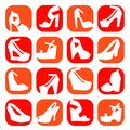Free Color Fashion Shoes Icons Royalty Free Stock Photography - 32272447