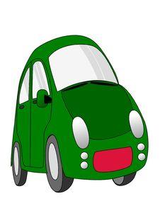 Free Green Car Cartoon Royalty Free Stock Photo - 32271105