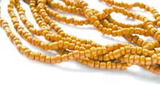 Orange Bead Royalty Free Stock Photo