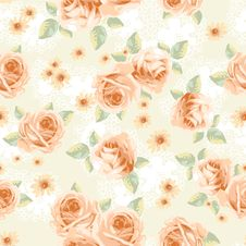 Vintage Roses - Seamless Stock Image