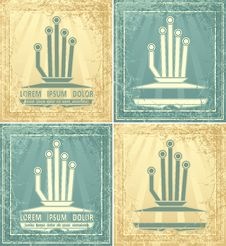 Symbol With Grunge League Or Union Or Management I Stock Image