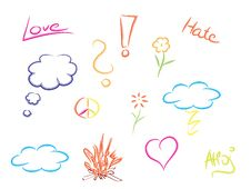 Free Colorful Doodles Royalty Free Stock Photos - 32277088