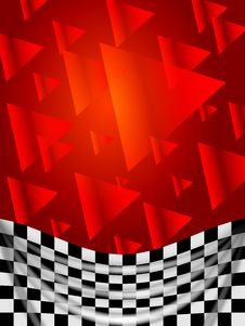 Free Silk Checked Flag On Red Background Stock Photography - 32278982