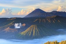 Free Bromo Mountain In Tengger Semeru National Park At Sunrise Stock Image - 32279131