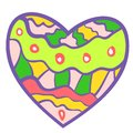 Free Funny Colorful Heart Background. Royalty Free Stock Images - 32281409