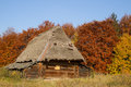 Free Old House With A Thatched Roof Royalty Free Stock Images - 32287609