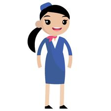 Free Smiling Cute Stewardess Royalty Free Stock Photography - 32283777