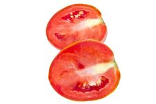 Cut Of Juicy Tomato Stock Photography