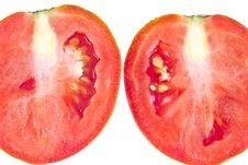 Cut Of Juicy Tomato Stock Images
