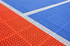 Free White Stripe On The Soccer Field Rubber Flooring Royalty Free Stock Photography - 32290357