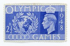 Free Vintage Stamp - Great Britain Olympic Games Royalty Free Stock Photos - 32293518