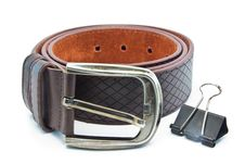 Free Leather Belt For Men Royalty Free Stock Images - 32294659