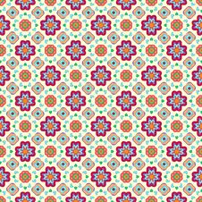 Geometric Flower Abstract Colorful Pattern On Stock Photo