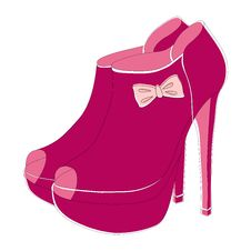 Free Pink Fashionable Shoes Stock Image - 32296781