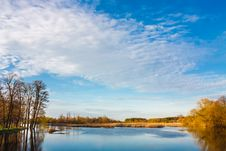 Free Sky And Clouds Reflection On Lake Royalty Free Stock Photo - 32297255