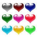 Free 3d Colour Hearts Royalty Free Stock Image - 3230366