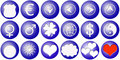 Free 18 Buttons With Icons Stock Images - 3235404