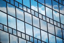 Sky Reflection In Glass Wall Stock Photos