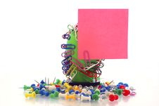 Free Holder Post-it Royalty Free Stock Photography - 3231517