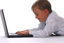 Free A Boy With Laptop Royalty Free Stock Images - 3231719