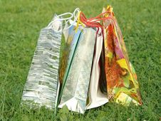 Free Five Bags Royalty Free Stock Image - 3232256