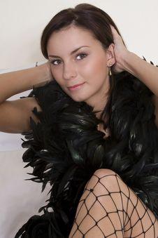 Free Boa Scarf Woman Stock Photo - 3232270